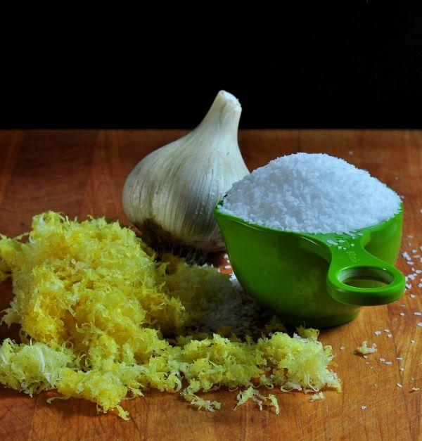 Ingredients for Lemon Garlic Salt on The Creekside Cook