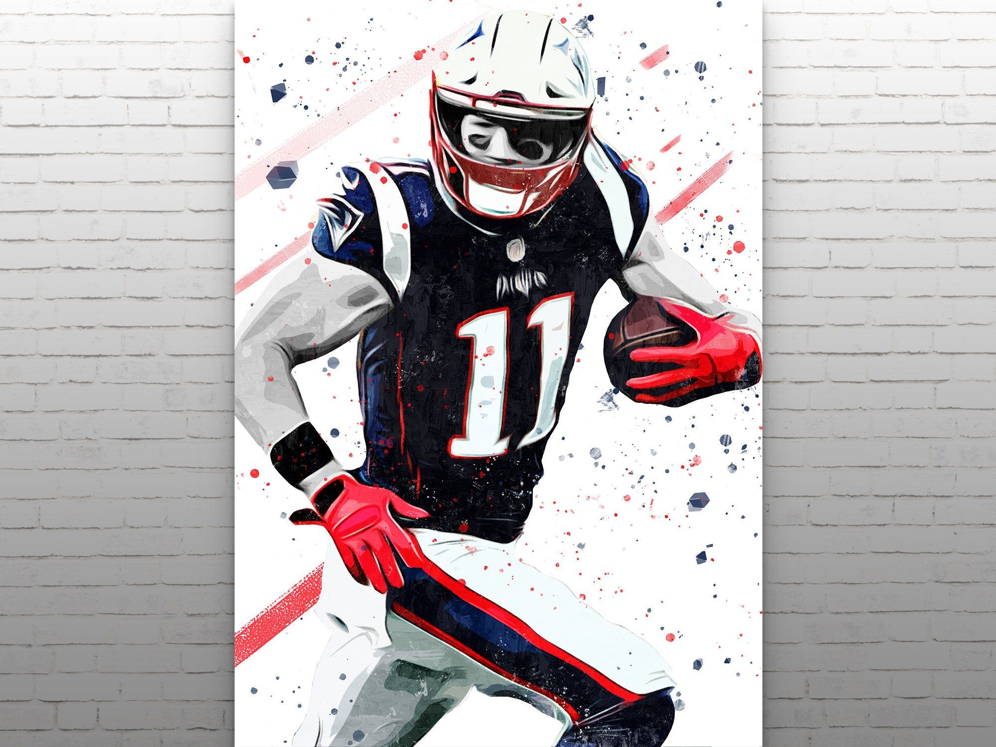 Julian Edelman New England Patriots Poster Canvas Print Frame Poster Sports Art Print Football Poster Kids Decor Man Cave Gift In 2020 Sports Art Print New England Patriots Patriotic Posters