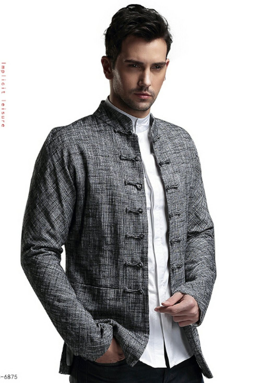 44c4154eb25 Chinese Men's Clothing, Chinese Collar, Chinese Suit, Wedding Shirts, Denim  Coat,