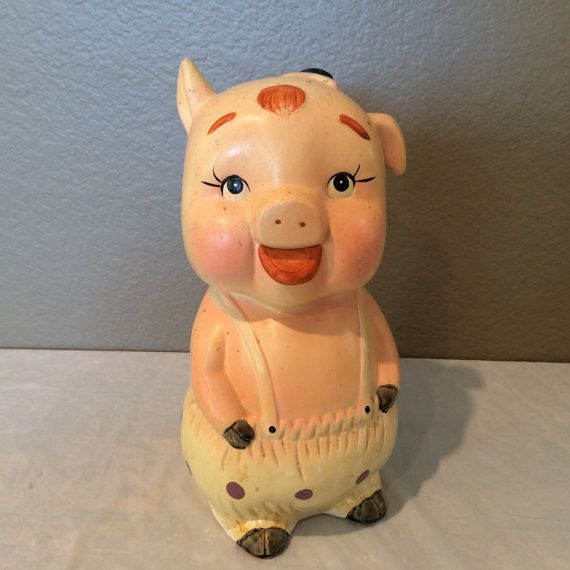 Vintage 1960 S Collectible Standing Pig Piggy By Kmscollectibles Piggy Pig Vintage