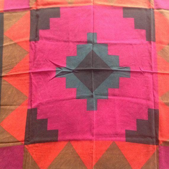 Vintage Cinzia Verga silk shawl scarf made in Italy by orlova1