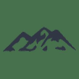 Mountain Climbing Silhouette Icon Mountain Climbing Climbing Silhouette Vector
