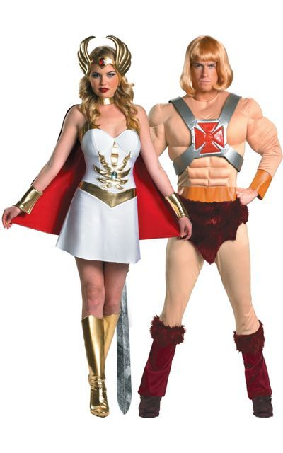 2020 Halloween Couples Costume Ideas He Man and She Ra Couples Costumes   Party City | Halloween | 80s