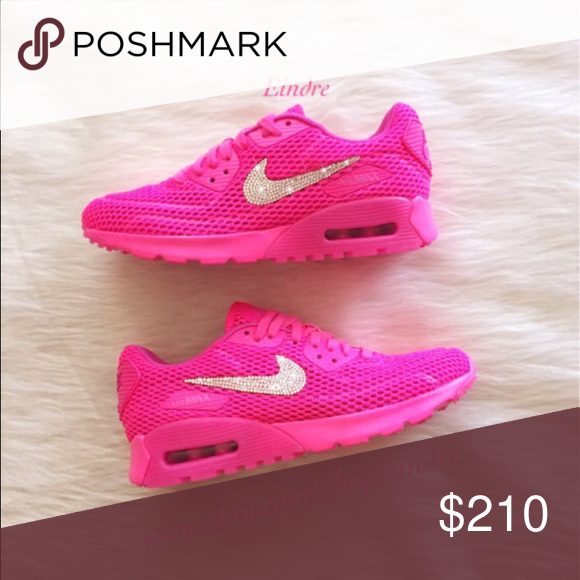 Nike Air Max 90 Blinged w/ Swarovski Rhinestones Brand new with box, Nike  Air