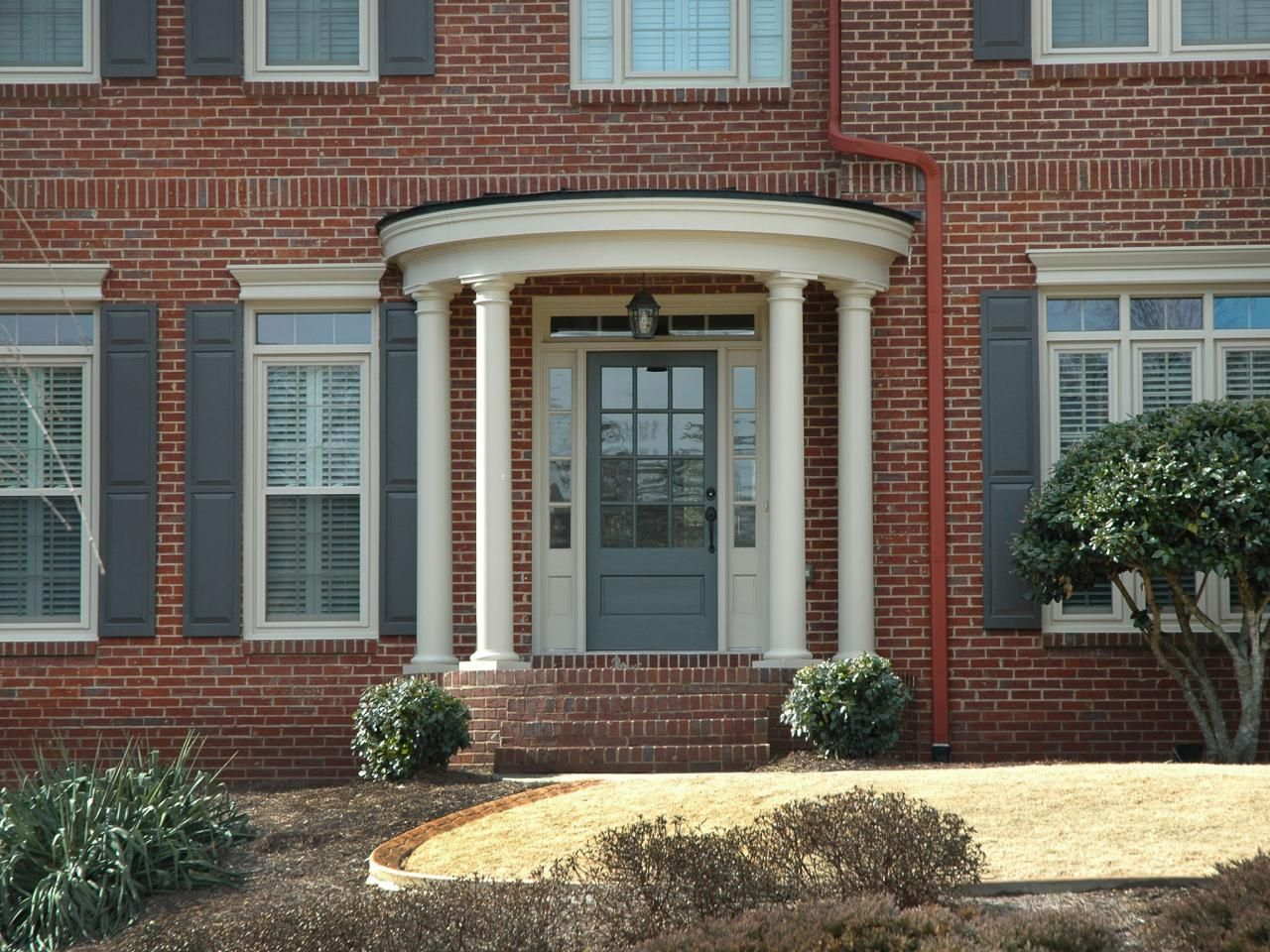 Front Door Color Brick Colonial
