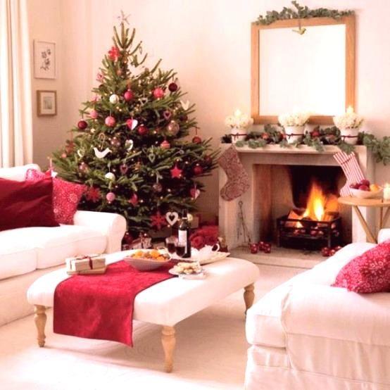 Vivid 27 inspiring christmas fireplace mantel decoration ideas 26