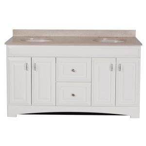 St Paul Providence 60 In Vanity White With Colorpoint Top Maui Prsd60map2com Wh At The Home Depot