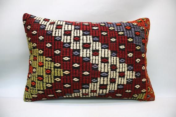 Kilim Pillow, 16x24 in, Decorative Pillow, Boho Sofa Pillow, Vintage Pillow, Turkish Pillow, Throw Pillow, Accent Pillow, Kilim Cushion