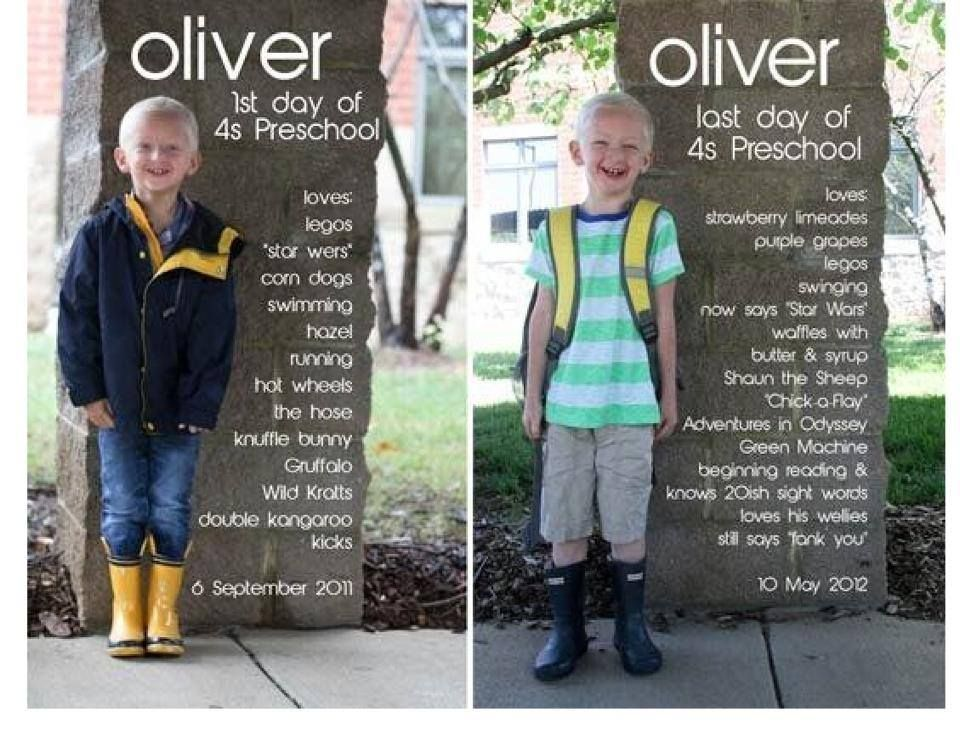 Great idea to do for my son first day of school