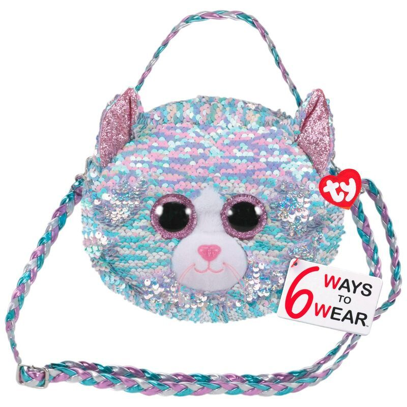 KIKI the Cat 13 inch TY Fashion Flippy Sequin Backpack - MWMTs New Toy
