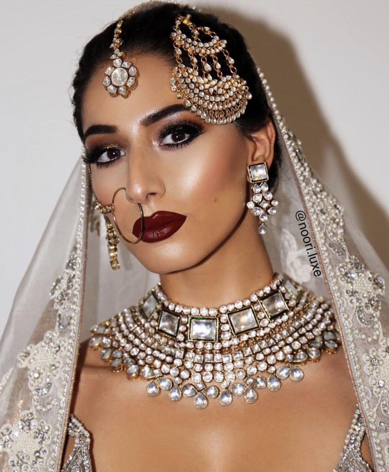 Dewy Makeup For A South Asian Bride Gorgeous Dupatta