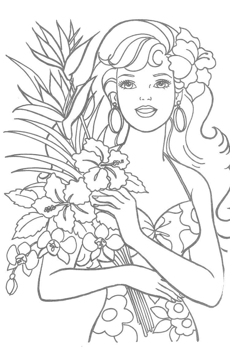 Coloring Barbie Barbie coloring pages, Barbie coloring