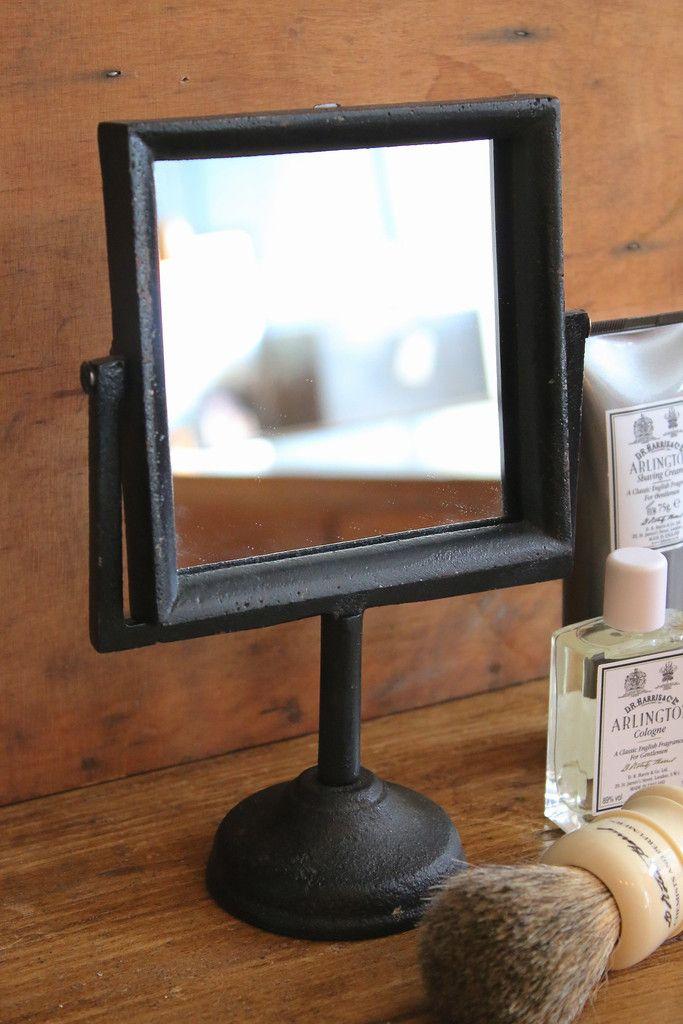 Square Vanity Mirror Shaving Brush Cool Devices Design