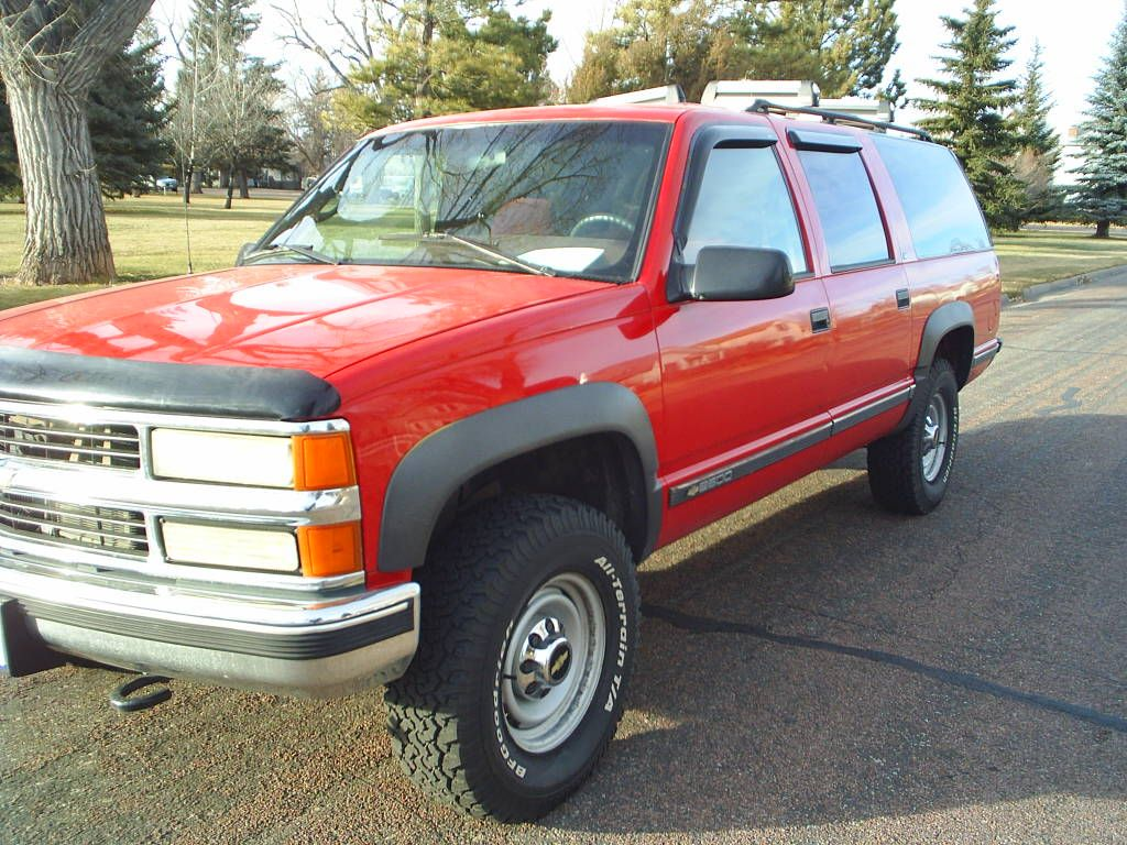 1995 Chevy Suburban Had One Of These In Dark Blue With A 4 Lift