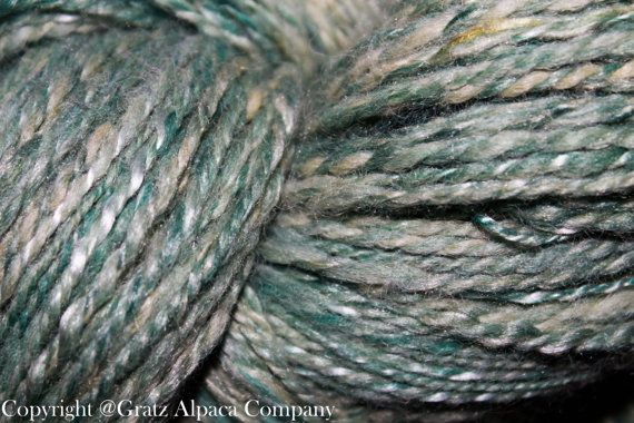 OOAK  Hand Spun DK Weight 5 oz. 338 Yards Huacaya Alpaca, Silk, & Faux Cashmere Blend on Etsy, $70.00
