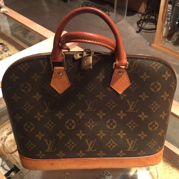 b8f919e276a Selling this Louis Vuitton Monogram Alma Hand Bag in my Poshmark closet! My  username is