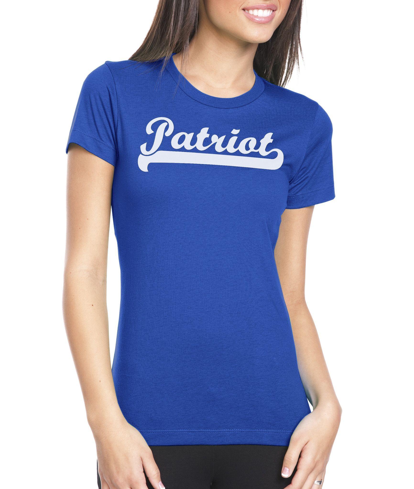 4c603dcea Premium t-shirt with classic Patriot logo | Women's | Boyfriend t ...