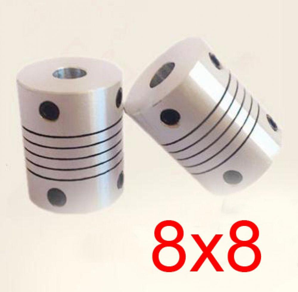 DR 6.35mm x 6.35mm CNC Flexible Coupling Shaft Coupler Encode Connector OD25 L30
