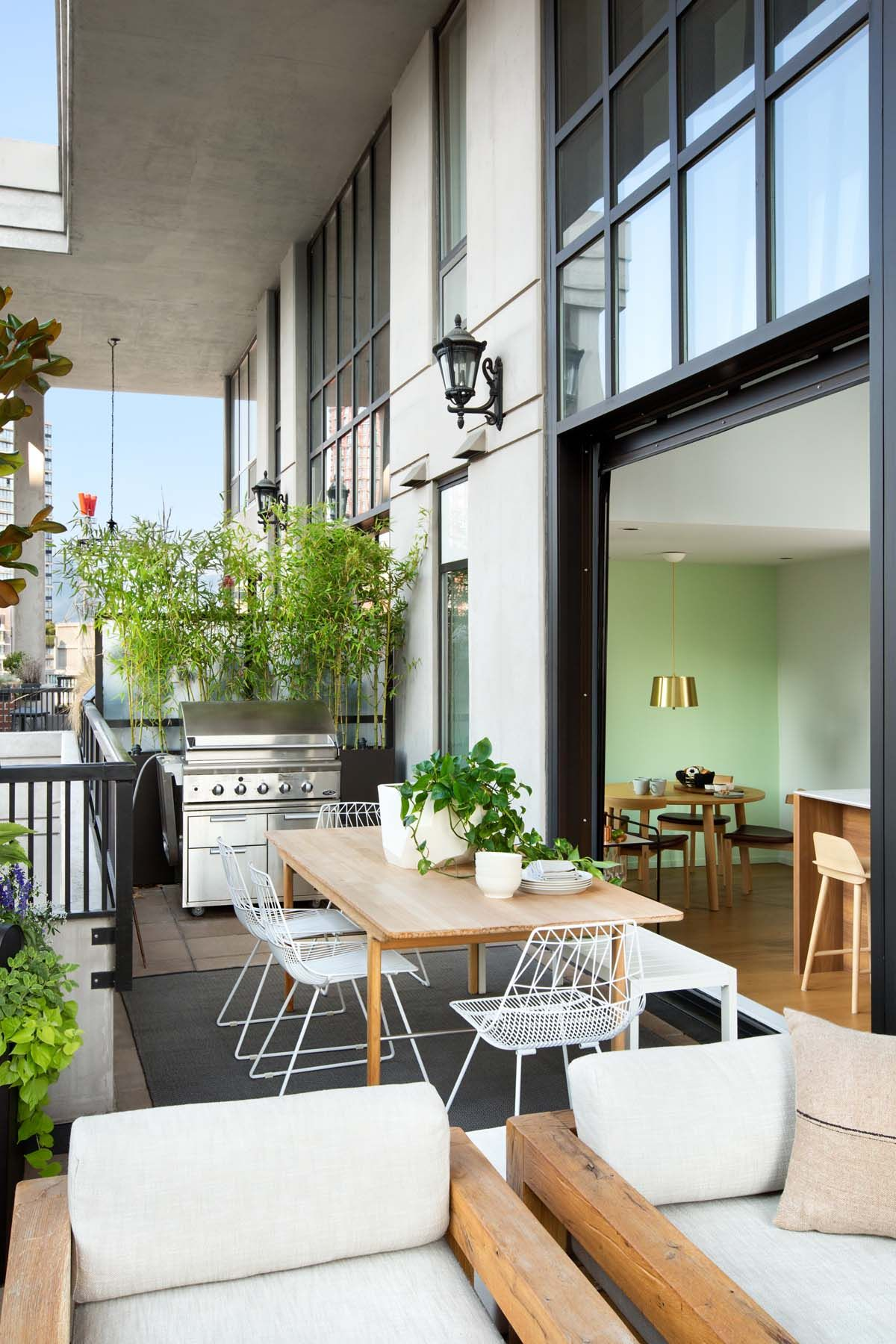 Sleek loft style apartment in Vancouver features a New York vibe