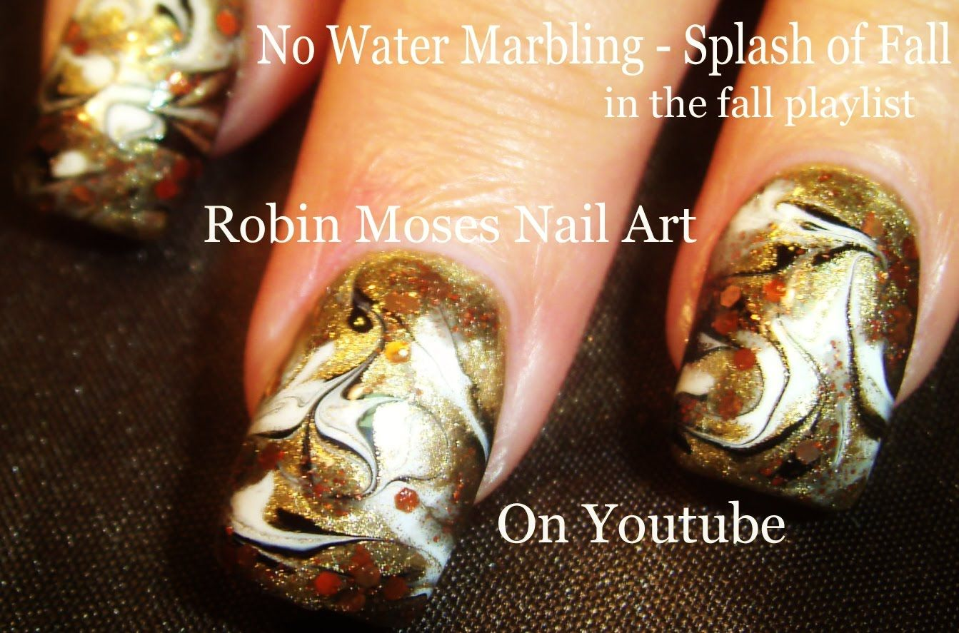 No Water Marbling Nail Art - Fall FAIL!!! | Fall, Thanksgiving and ...