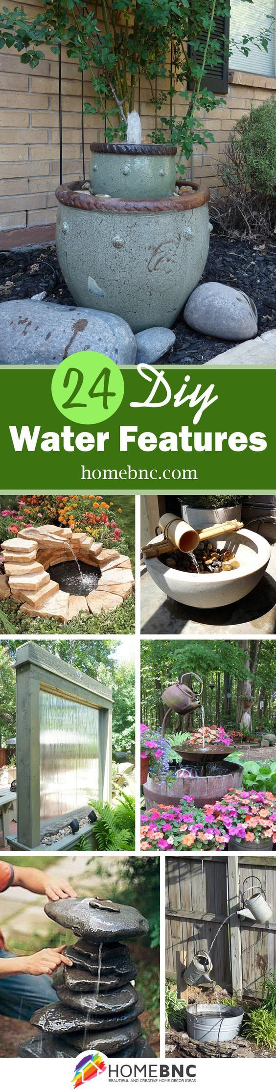 24 Simple and Serene DIY Water Feature Ideas You'll Love ...