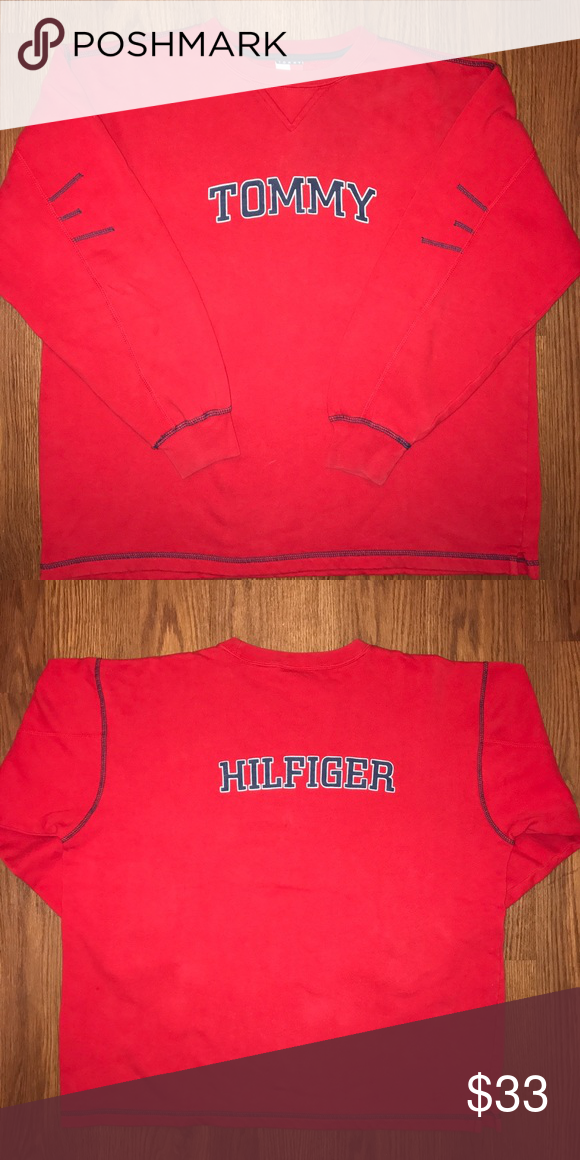 TOMMY HILFIGER CREWNECK Size: Medium Condition: Pre-owned - Great Price: $33 Tommy Hilfiger Sweaters Crewneck