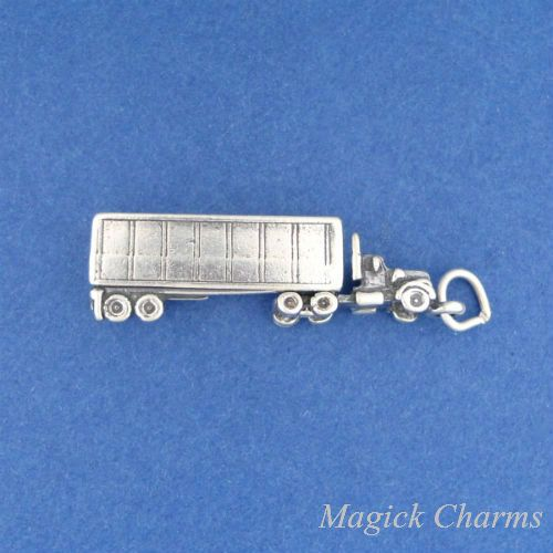 STERLING SILVER 3D TRACTOR  CHARM PENDANT
