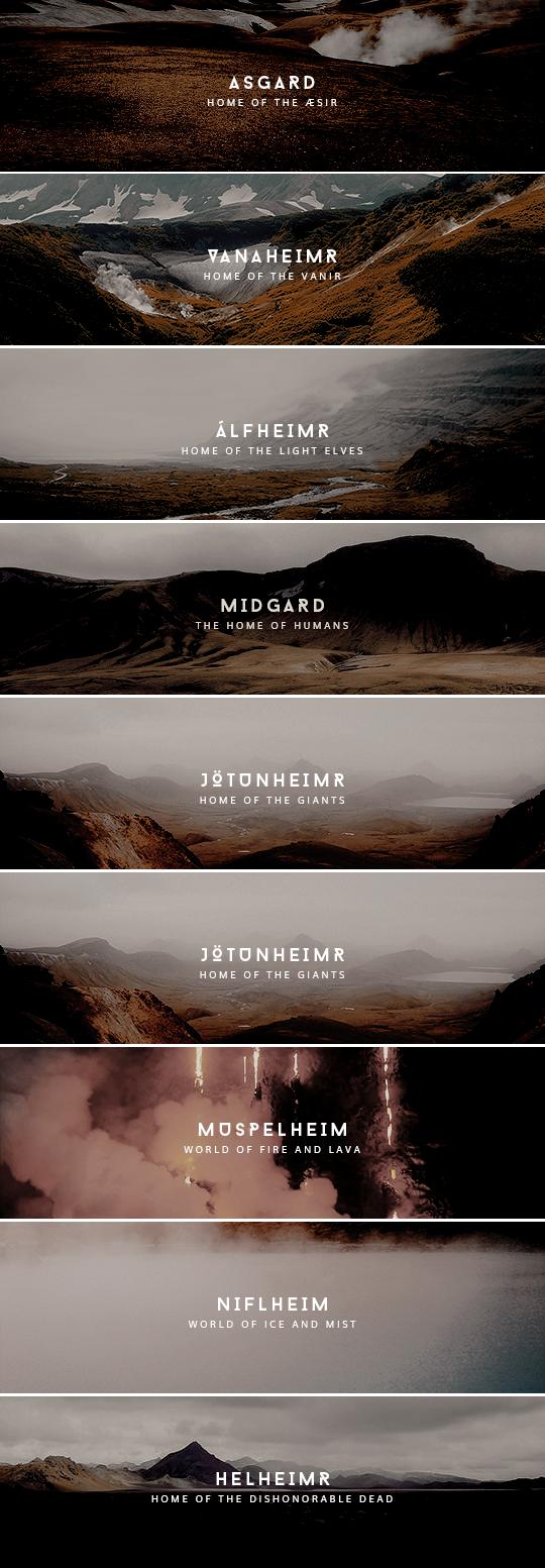 the nine worlds of yggdrasil