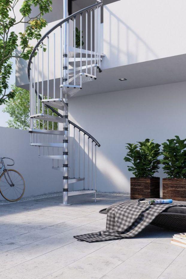 Best Misterstep Exterior Zink Spiral Stair Kit Escaleras 400 x 300