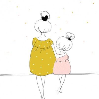 """Résultat de recherche d'images pour """"dessin amour mere fille"""""""