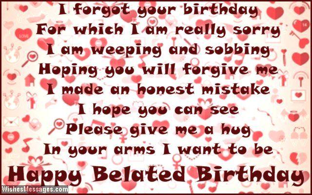 Belated Birthday Wishes For Boyfriend Late Birthday Messages For Him Birthday Wishes For Boyfriend Birthday Cards For Him Birthday Greetings For Boyfriend