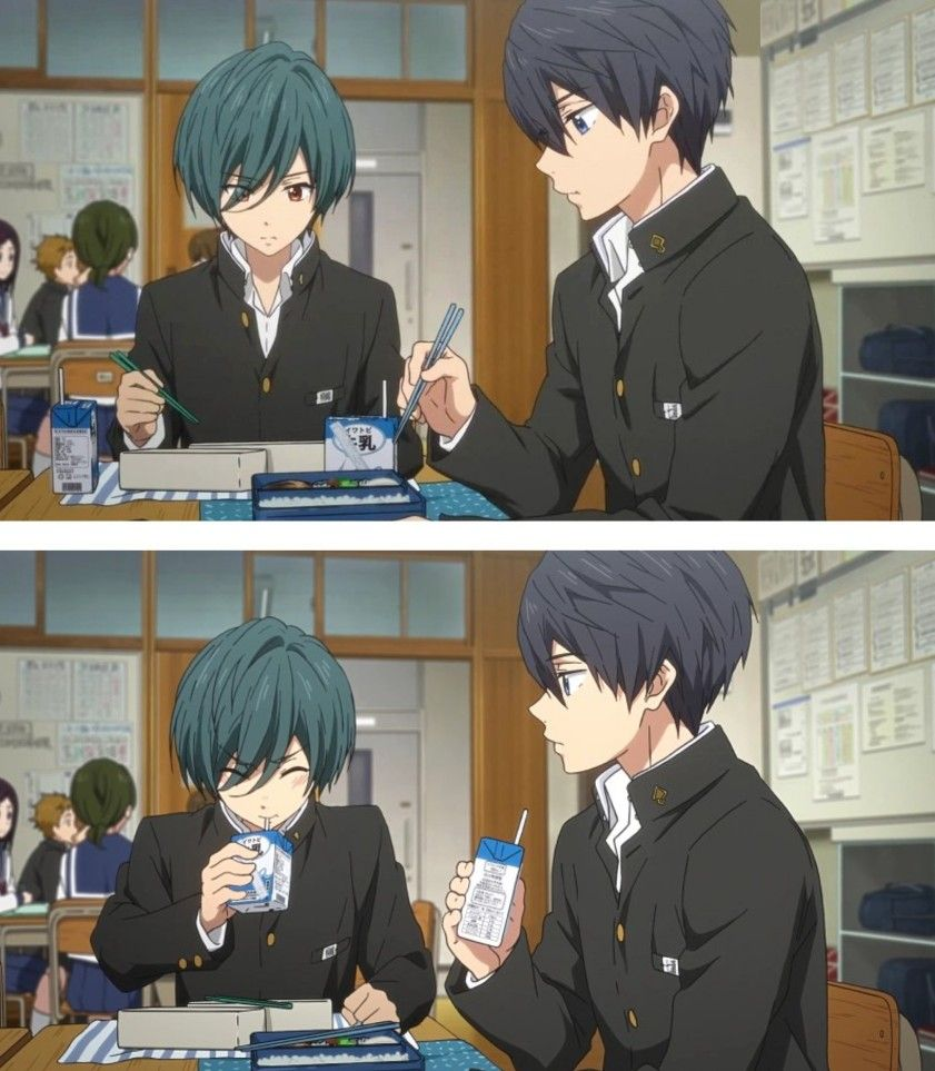 Drink Milk It S Good For You Ikuya Free Anime Free Iwatobi Anime