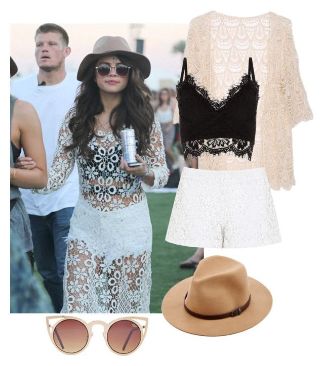 """""""Selena gomez /festival"""" by lifelovedreams ❤ liked on Polyvore featuring Sole Society, Alice + Olivia, Cameo Rose and Quay"""