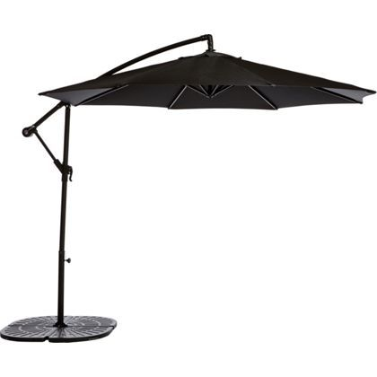 overhanging garden parasol black my new garden ideas. Black Bedroom Furniture Sets. Home Design Ideas