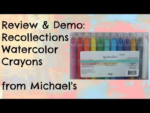 New Product Alert Recollections Color Splash Watercolor Crayons