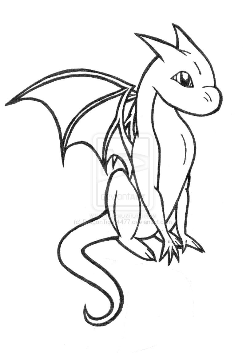 Easy Baby Dragon Drawings For Kids : dragon, drawings, Dragon, Coloring, Pages, Adults, Dragons, Drawing,