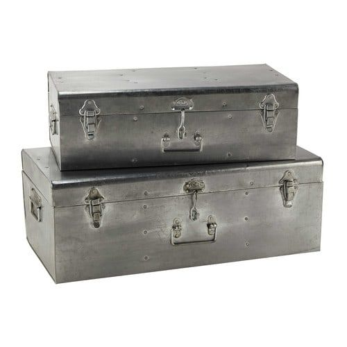 2 baúles de metal An. 56 y 66 cm SAMMY   Malaje studio   Pinterest ...