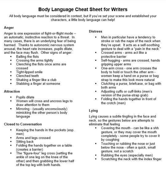 Patricia S Weekend Pick Body Language Cheat Sheet Book Writing