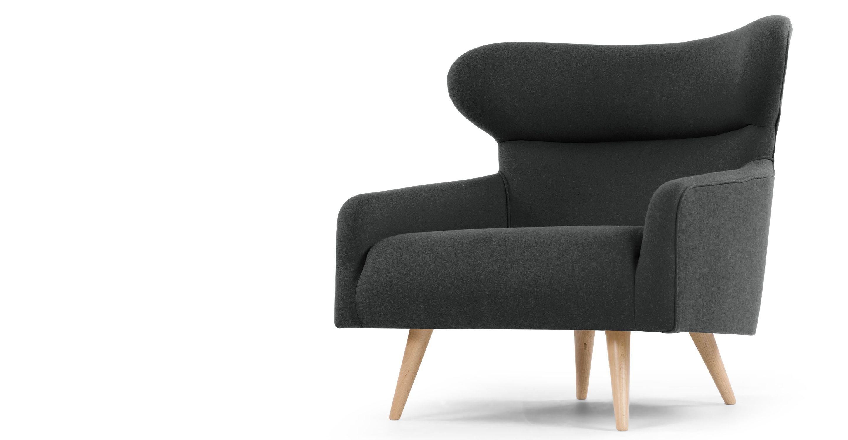 Twist Armchair, Pello Mid Grey | made.com