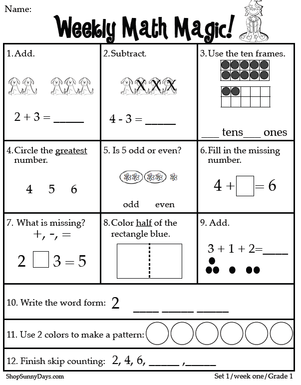 image relating to 1st Grade Assessment Test Printable called To start with Quality CCSS Math Magic Clroom Freebies! Math