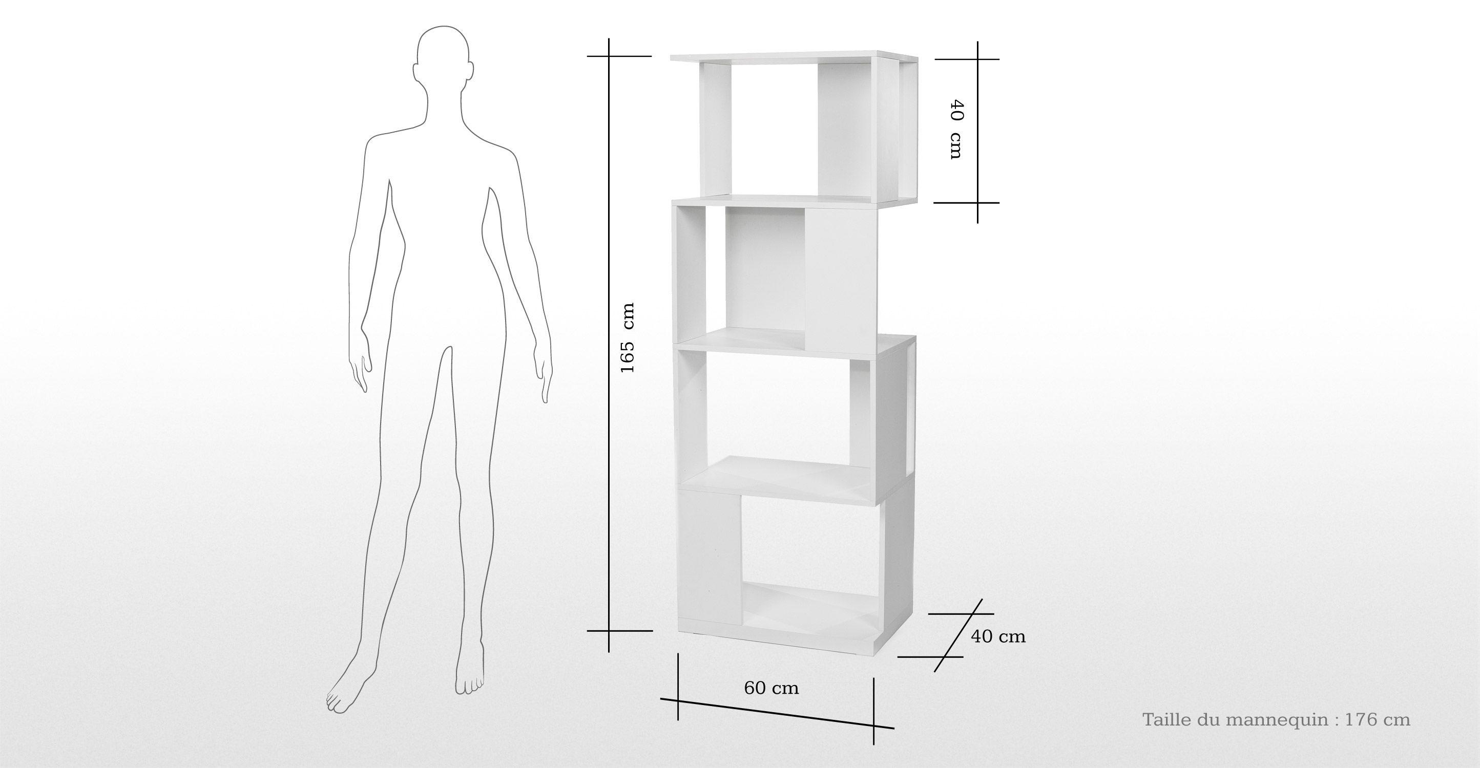 Axis, une étagère laquée blanche | made.com