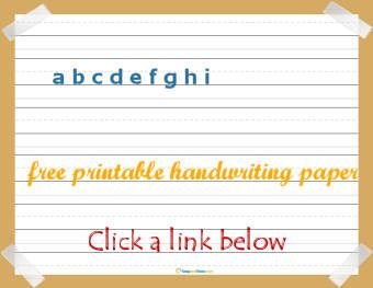 lots of links for lined paper to print for handwriting practice