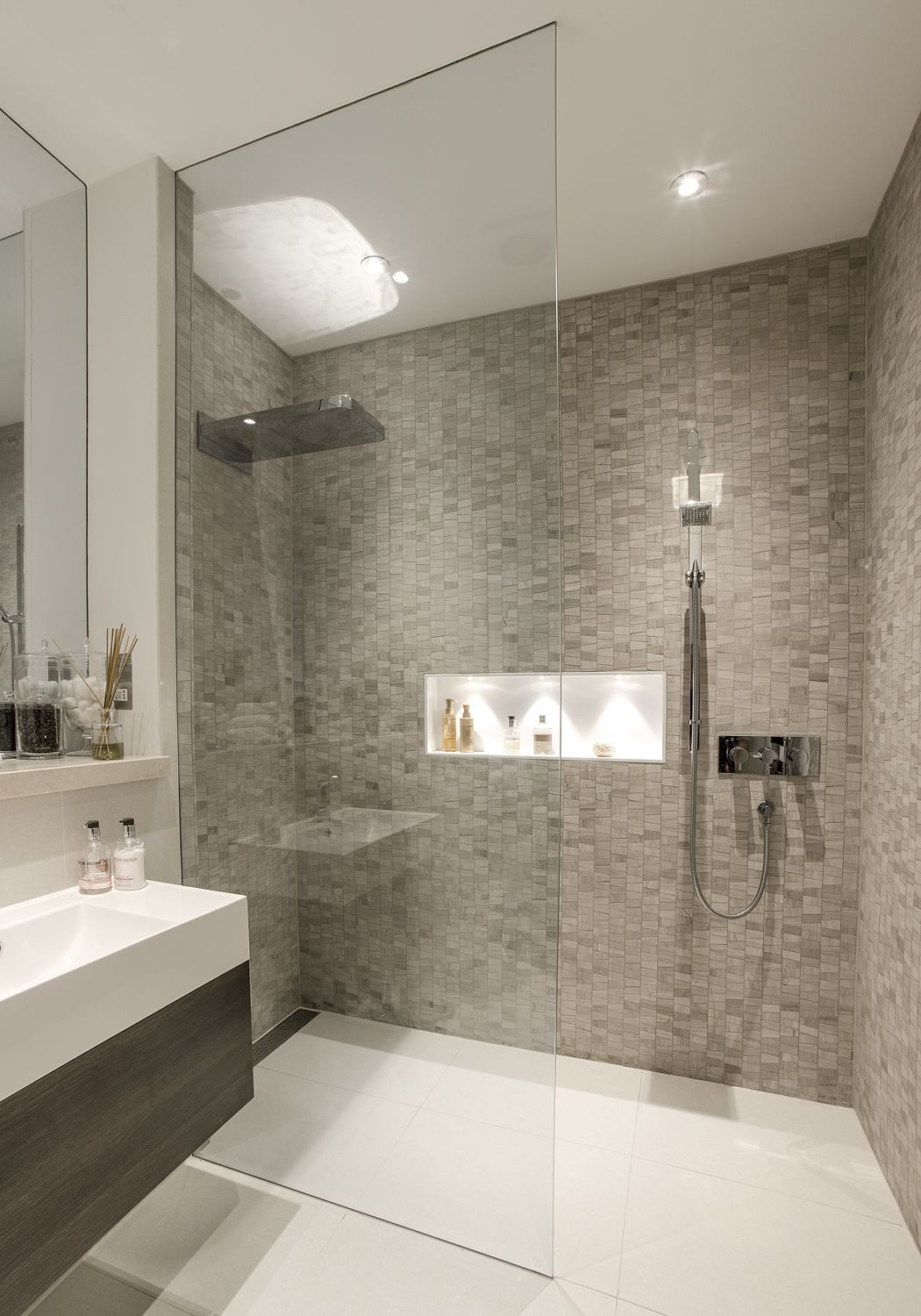Stunning Basement Shower Room Modern Bathroom Decor