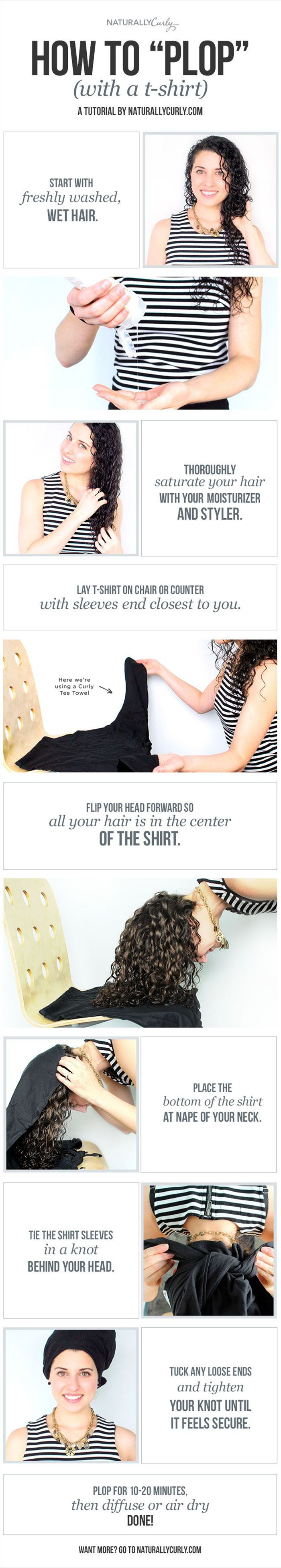 How To Plop Curly Hair A Curly Girl S Guide Curly Hair Styles Naturally Hair Plopping Curly Hair Styles