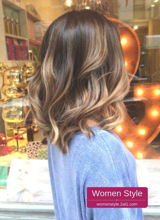 taglio di capelli; capelli corti; balayage; marrone chiaro, #balayage #brown #frisur #lig … – Cool Style