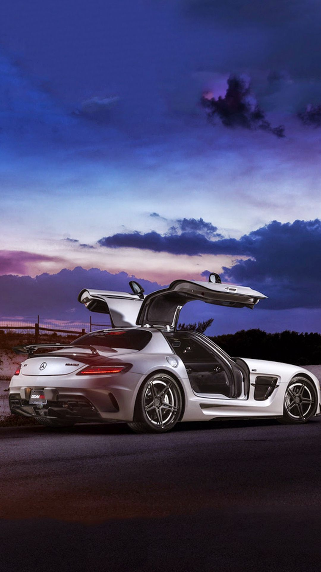 Mercedes Sls Amg Coupe Black Series Iphone 8 Wallpapers With