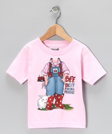 Take a look at this Pink 'Best Farmall Friends' Tee - Toddler & Girls by Playful Picks: Kids' Apparel on #zulily today!