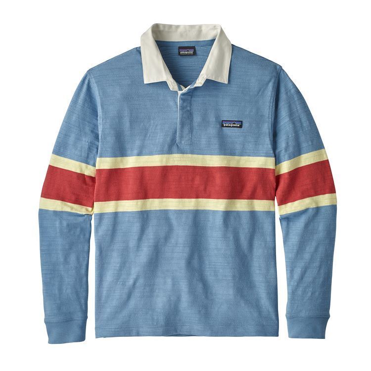 Patagonia Men S Long Sleeved Lightweight Rugby Shirt Shirts Rugby Shirt Rugby Fashion
