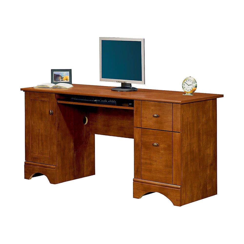 Realspace Dawson 60 Computer Desk Brushed Maple Item