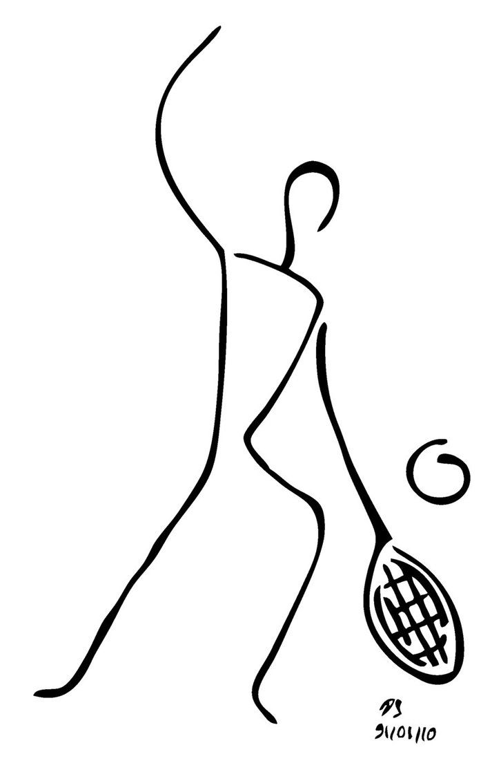 Pin By Marlize On Trophies Tennis Drawing Drawing People Wire Art